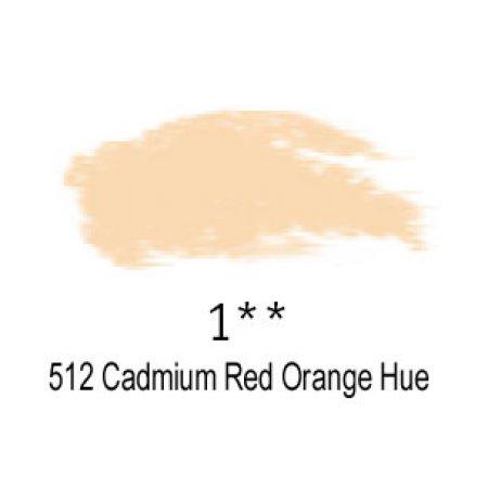 Daler-Rowney Artists Soft Pastel, 512 Cadmium Red Orange Hue - 1