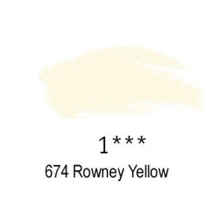 Daler-Rowney Artists Soft Pastel, 674 Rowney Yellow - 1