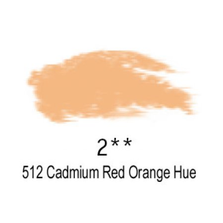 Daler-Rowney Artists Soft Pastel, 512 Cadmium Red Orange Hue - 2