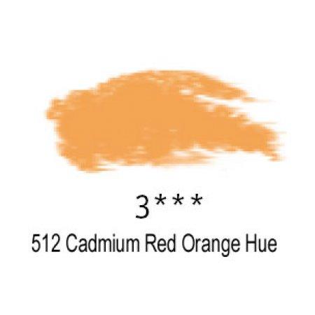 Daler-Rowney Artists Soft Pastel, 512 Cadmium Red Orange Hue - 3