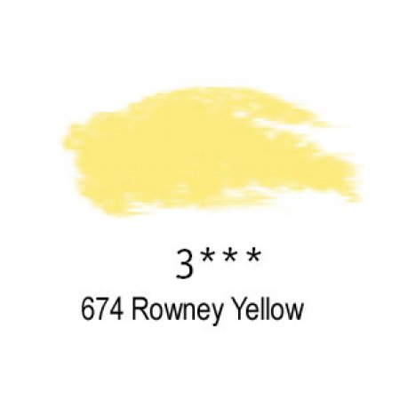 Daler-Rowney Artists Soft Pastel, 674 Rowney Yellow - 3