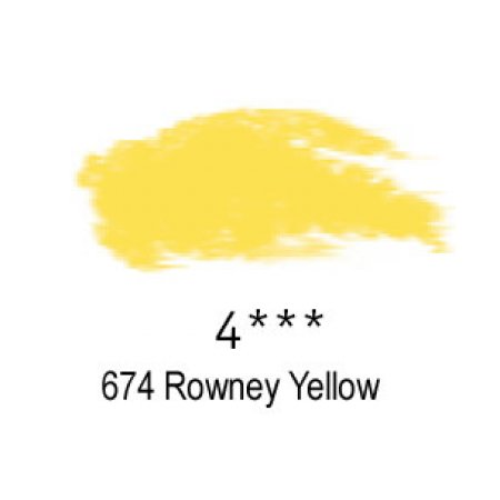 Daler-Rowney Artists Soft Pastel, 674 Rowney Yellow - 4