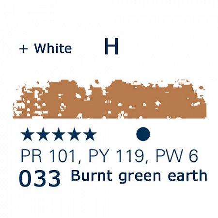 Schmincke Pastels, 033 burnt green earth - H