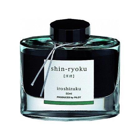 Pilot Ink Iroshizuku 50ml Green - Shin-Ryoku (Forest green)