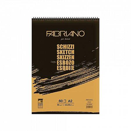 Fabriano Schizzi 90g Spiral 60 ark - A5